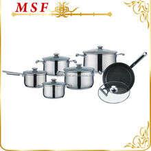 Surgical 18 10 stainless steel 12pcs cookware set non stick coating cooking pot top quality kitchenware MSF-L3078