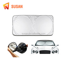 2017 nylon polyester folded two circle front car sunshade