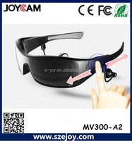 2015 new fashion bluetooth sunglasses with hard sunglass case with logo printing