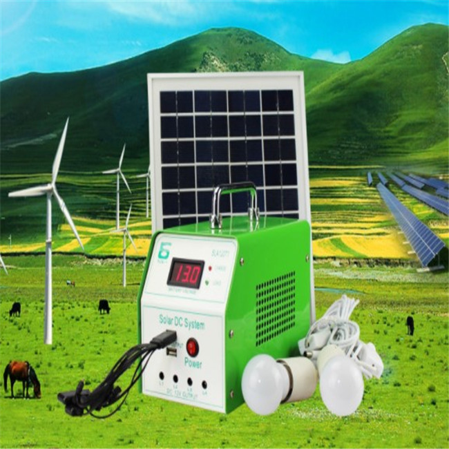 AC Three Phase Mini Portable Solar Led Light Lighting System, Mono Silicon Portable Solar Power System Generator