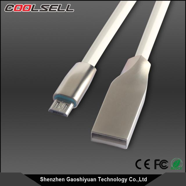 Zinc-Alloy Design Premium 3ft Micro Cabos USB de Alta Velocidade USB 2.0 um Macho para Micro B Sincronização e Cabos de Carga para Android