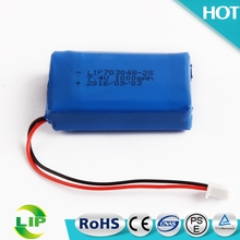 703048-2S li-polymer battery pack rechargeable li-ion lipo battery 7.4v 1000mah
