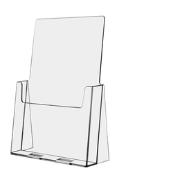Clear Acrylic Literature Document Brochure Holder, Slant Back 8.5 x11 Inches Book Display Stand