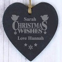 CHRISTMAS decorative lucky slate stone art crafts for door