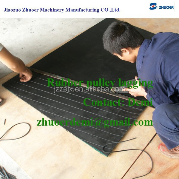 Rubber Lagging for Conveyor Tail Pulley