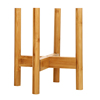 Modern Adjustable Bamboo Flower Pot wood plant stand
