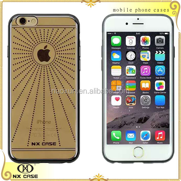Transparent electroplate TPU cell phone case for iPhone 6