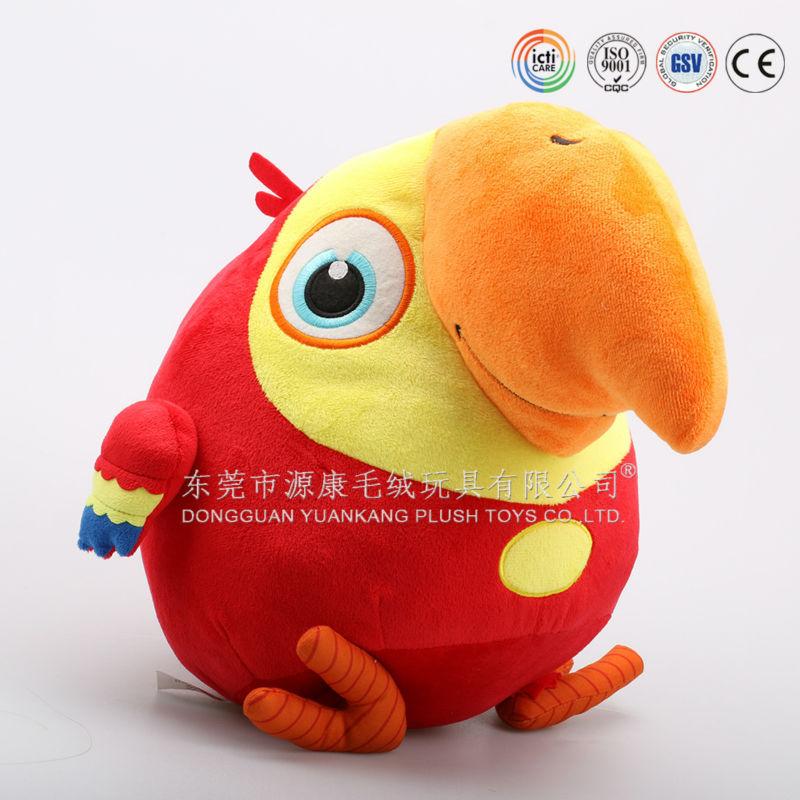 Bird Talking Toy : Plush animals bird funny tone talking parrot speaking