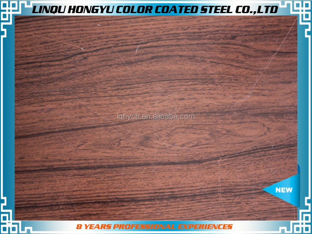 Wood pattern color coated prepained PPGI steel coil from shandong china