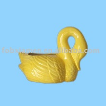 ceramic swan figurine