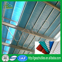 Anti-climate plastic translucent sheet acrylic for lighting coating UV longspan roof