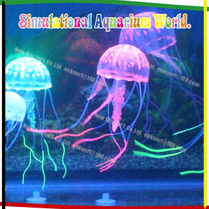 Glowing Effect Silicone Jellyfish Blister Packing Artificial Aquarium Fish