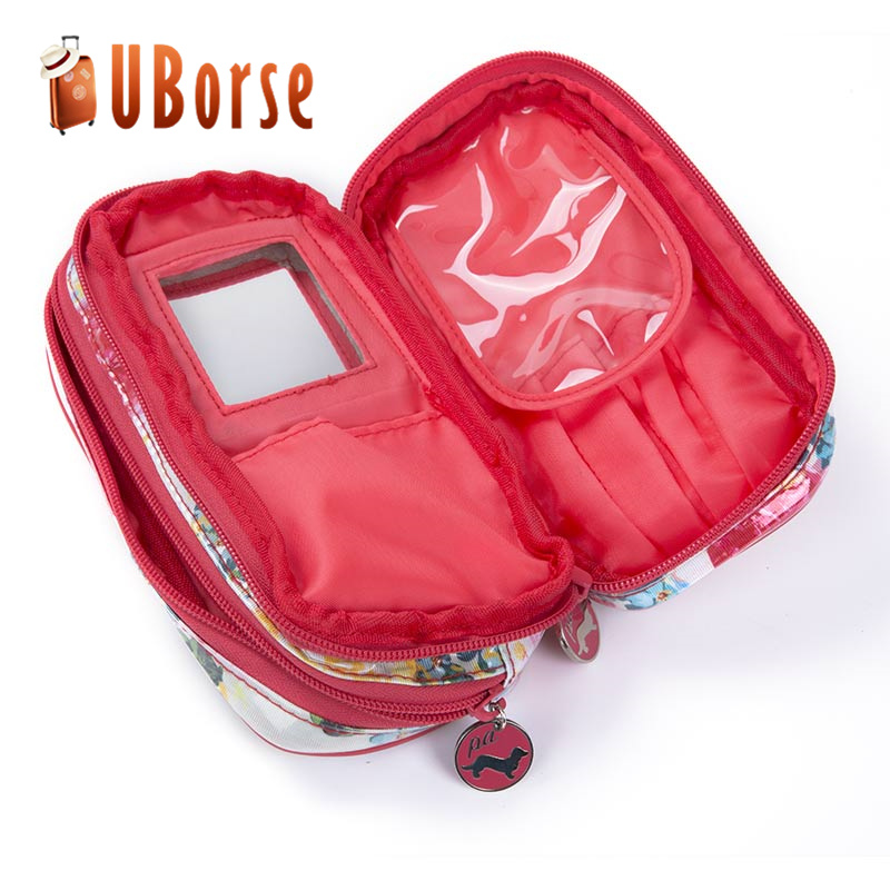 Travel wash bag cosmetic bag outdoor camping hanging toiletry bag with mirror