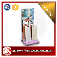 made in china wood ceramic tile display stand for floor tile showroom