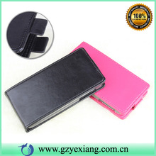 Factory price open up and down magnetic leather flip case for Lenovo A630e