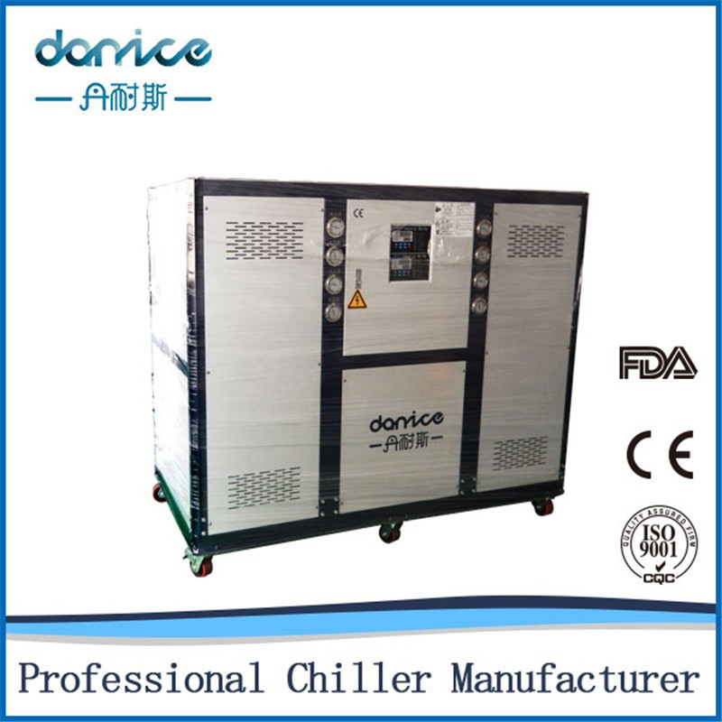 High Performance Dry Shell and Tube Type Condenser 160kw Industrial Vegetable Chiller