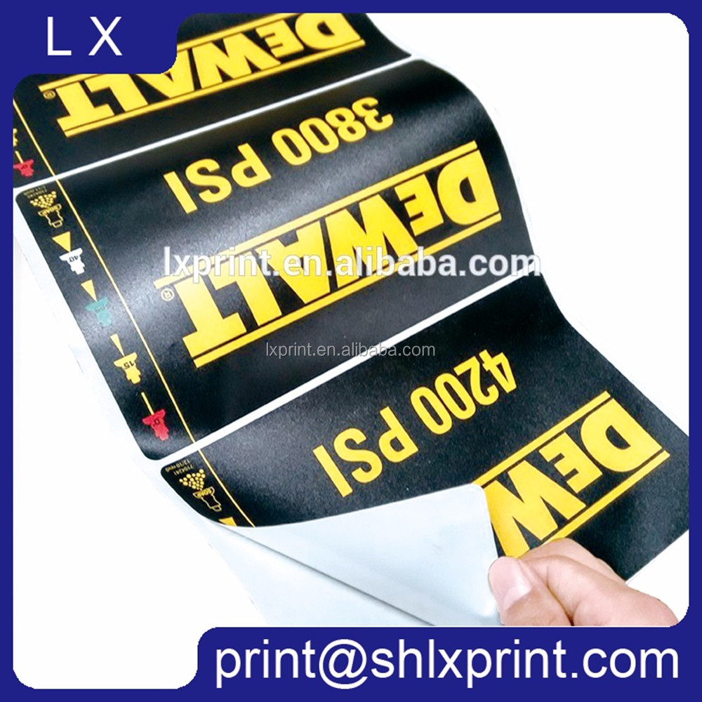 Custom Printed Adhesive Label For Tires