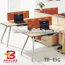 Wooden design modular standard size cubicle office partition TB-49G