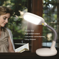 dimmable and adjustable plastic led table lamp,led desk lamp,led reading light