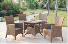 hotsale plastic rattan outdoor coffee restaurant dining set