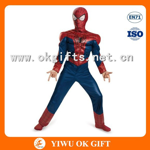 High quality Muscle spiderman costume for kids,kid spiderman costume,spiderman costume child