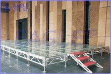 Transparent Stage for performance for concert for lighting