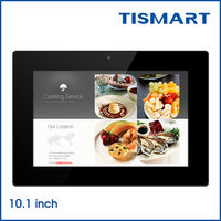 Tismart 10.1 inch cheap wall mounted android tablet adverting screens for advertising equipment