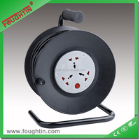 3 way power extension socket plastic reel with 25 meters cable and plug multi socket extension cord