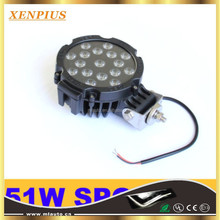 51W 7 inch Black Round LED Work Light Spot Beam Off Road Lamp TRUCK 4WD BOAT 4x4