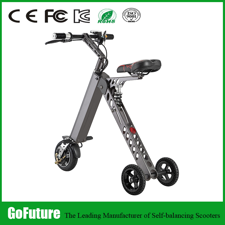 CE Fcc rohs approval hub motor 3 wheel foldable electric bike