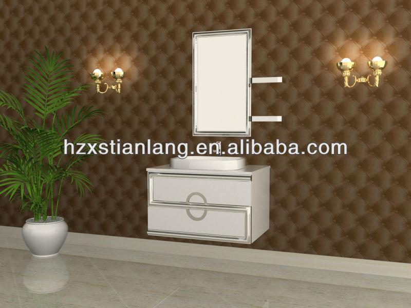 bao de la vanidad gabinete de acero inoxidable lavabo del bao vanidades armarios baratos