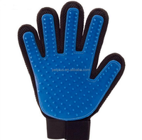 pet grooming glove bath brush glove for dog & cat Cleaning