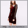/product-detail/new-arrival-factory-price-custom-made-sexy-asymmetric-velour-mesh-insert-bodycon-dress-60585447701.html