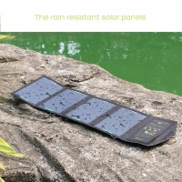 Portable 16W Dual Output Waterproof Foldable 5V Solar Panel Charger Solar Mobile Phone Battery Charger