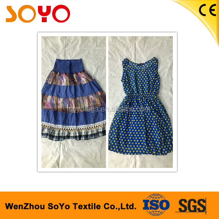 summer high fashion second hand clothing women woven clothing and cotton dress