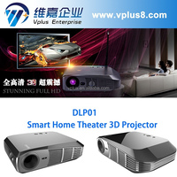 Vplus DLP01-1 Best quality led projector with built RK3288 Smart projector low price smart tv led projector