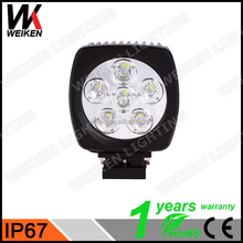 WEIKEN 60w square auto led work light For Car Motorcycles Jeep, SUV