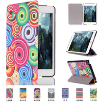 Wholesale Customized Printing Leather Tablet Cover Case for Apple iPad Mini4 with Stand Function