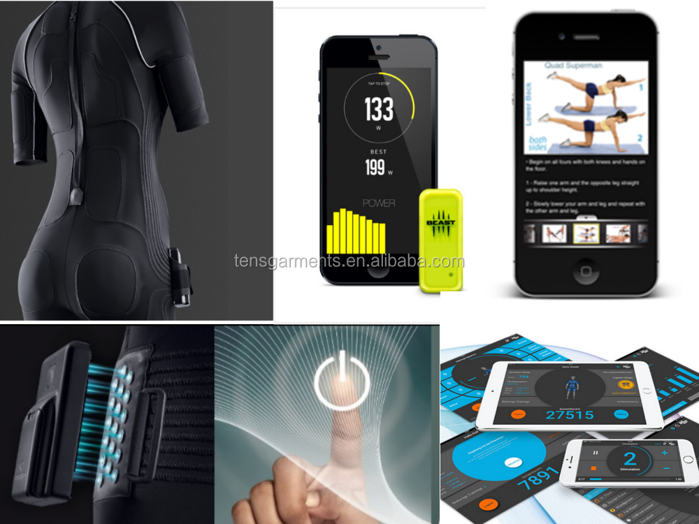 vision body style electro muscle stimulation slimming suit wireless vision body ems machine suit