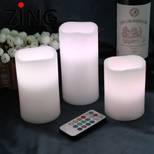Very cheap dancing flames LED candle with moving wick decorative candle