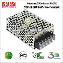 Meanwell NES-15-15 (15W 15V 1A) 15W 15V Single Output Meanwell SMPS LED Power Supply