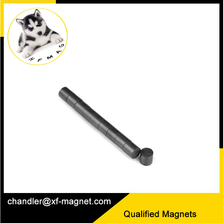 Rod Ceramic Strong Ferrite Magnets Y35 For Motor