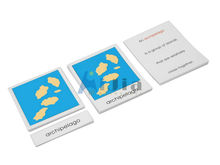 Montessori material-Land and Water Form Cards