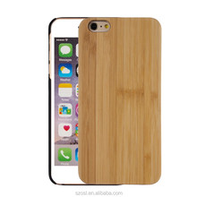 Manufacturer Customized color engraved laser wood bamboo cover for iphone 7 plus case 5 5s