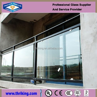 Thriking Glass polished balcony fence polished tempered glass price
