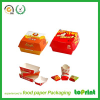 Paper fast food chips fried chicken box packaging paper burger box