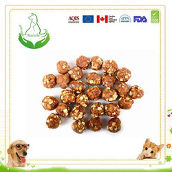 100% natural dog snack pet food chicken apple ball
