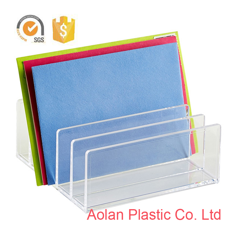 Wholesale transparent Acrylic Letter Holder Envelopes File Holders Display Stand Rack