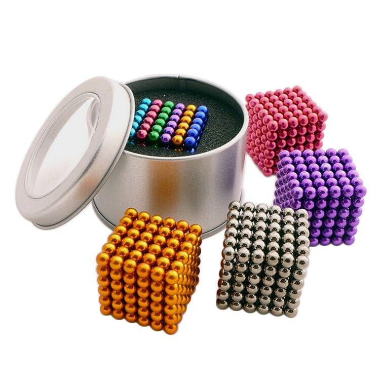 5mm Magnetic Beads Balls Spheres Magic Cube Neodymium DIY Magnets Toy