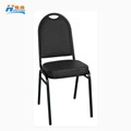 wholesale usa stacking black PU iron hotel banquet dining chair